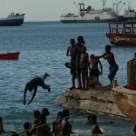 Afternoon swim Zanzibar