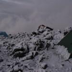 Barrafu camp after failed ascent