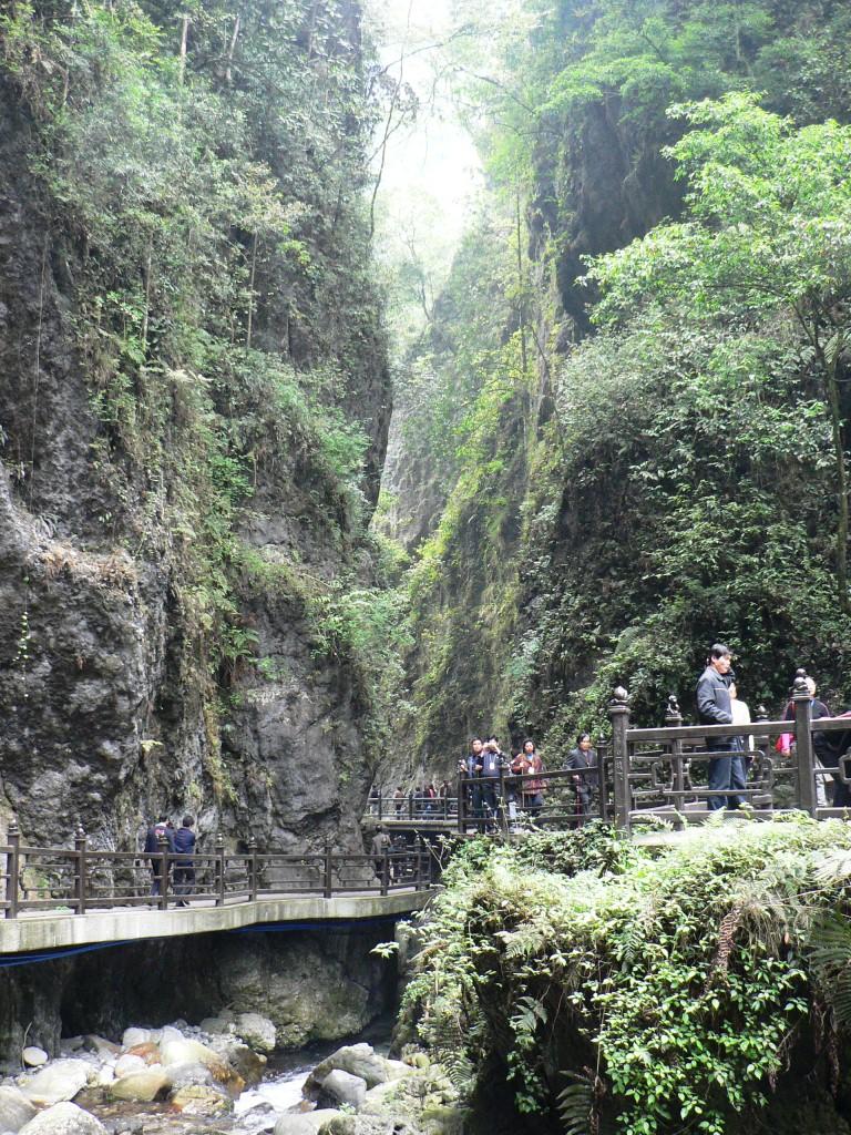 Cataract view Mt Emei trail