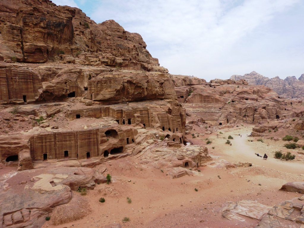 Cliff face tombs Petra