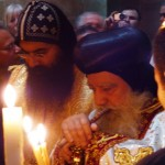 Coptic priests Church of Holy Sepulchure