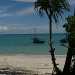 Dhow moored off Zanzibar