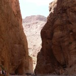 Dwarfed in Todra gorge