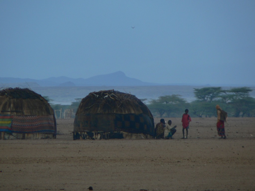 Gabbra tribal village in the desert