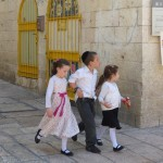 Jewish kids Old Jerusalem
