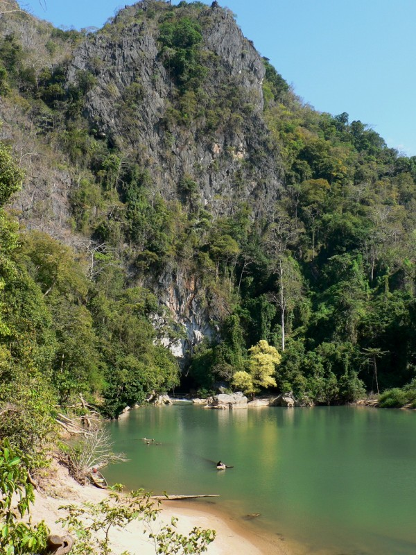 Kong Lor cave and lagoon Laos