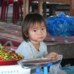 Laos market face