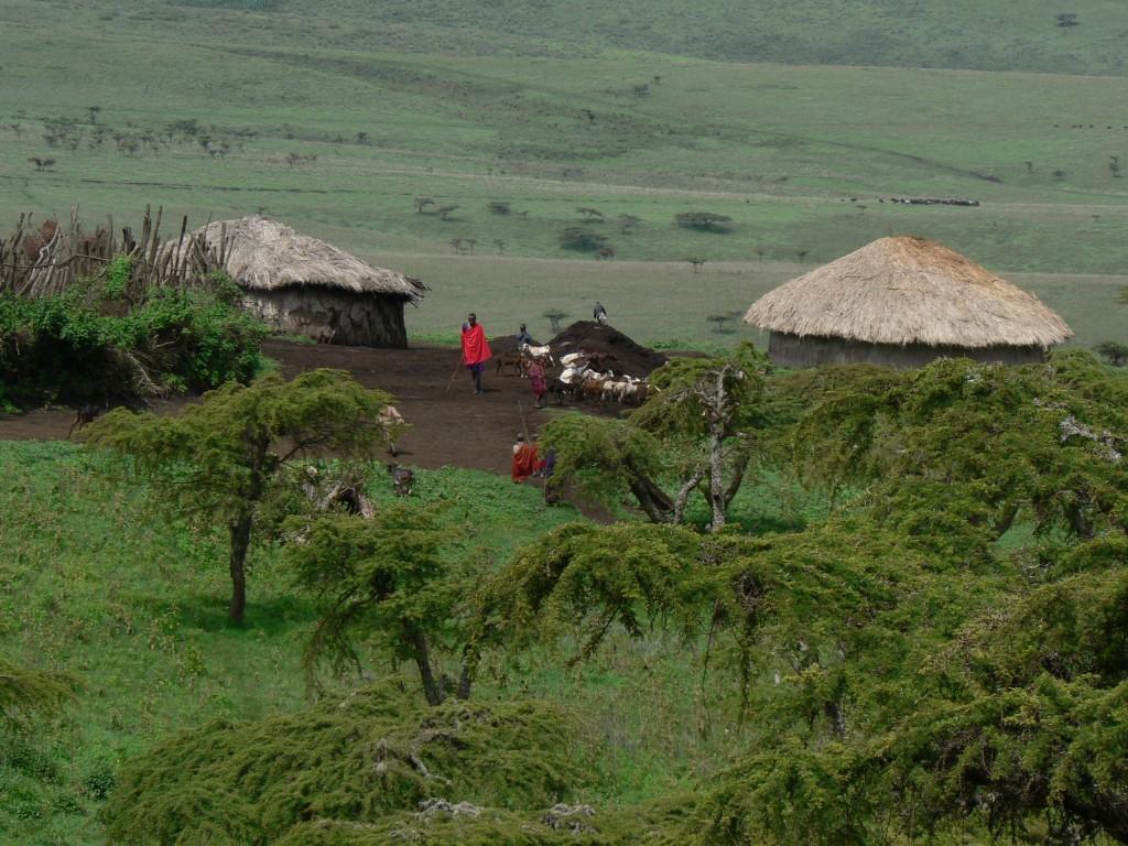 Maasai village Ngorongoro