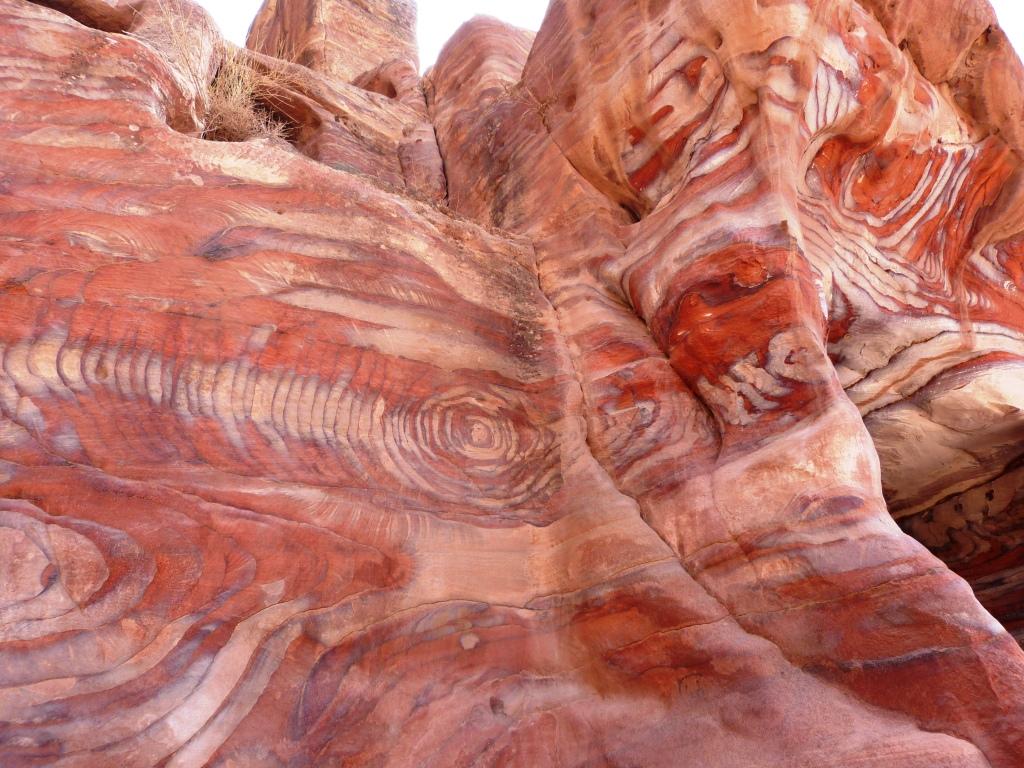 Rainbow colours sandstone Petra