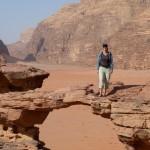 Rock bridge Wadi Rum desert