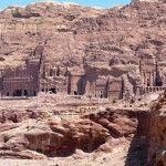 Royal tombs cliff Petra