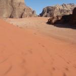 Sand dunes Wadi Rum