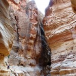 Siq canyon into Petra