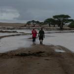 Sodden desert roads