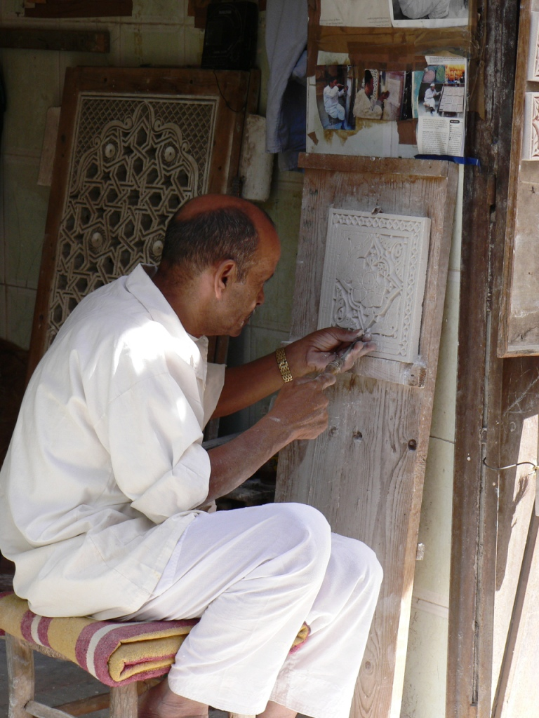 Stucco carving Marrakesh