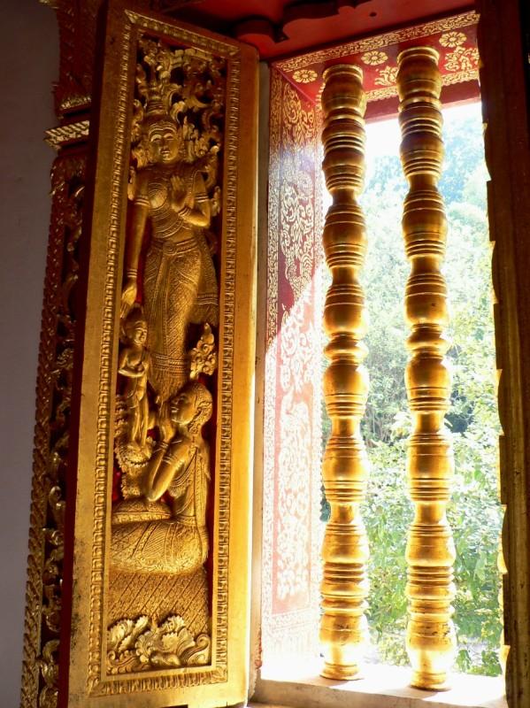 Temple windows Luang Prabang