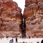 View back down siq canyon Petra
