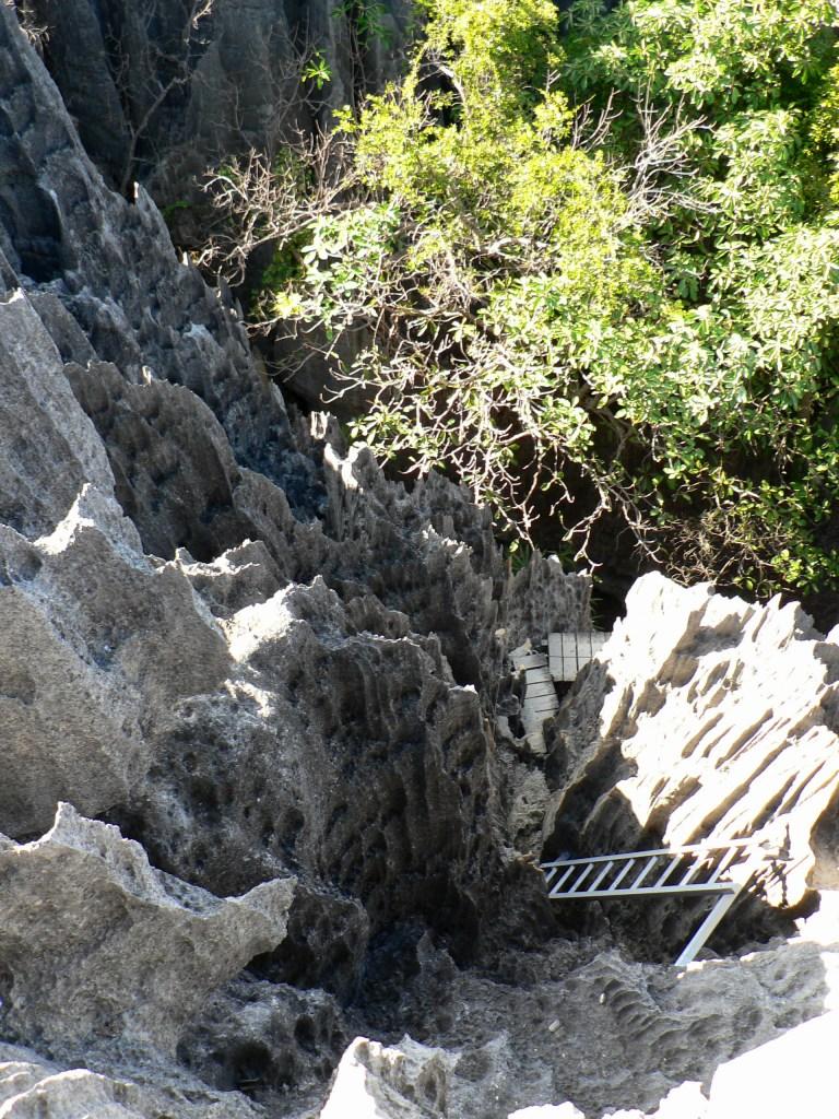 View down Tsingy
