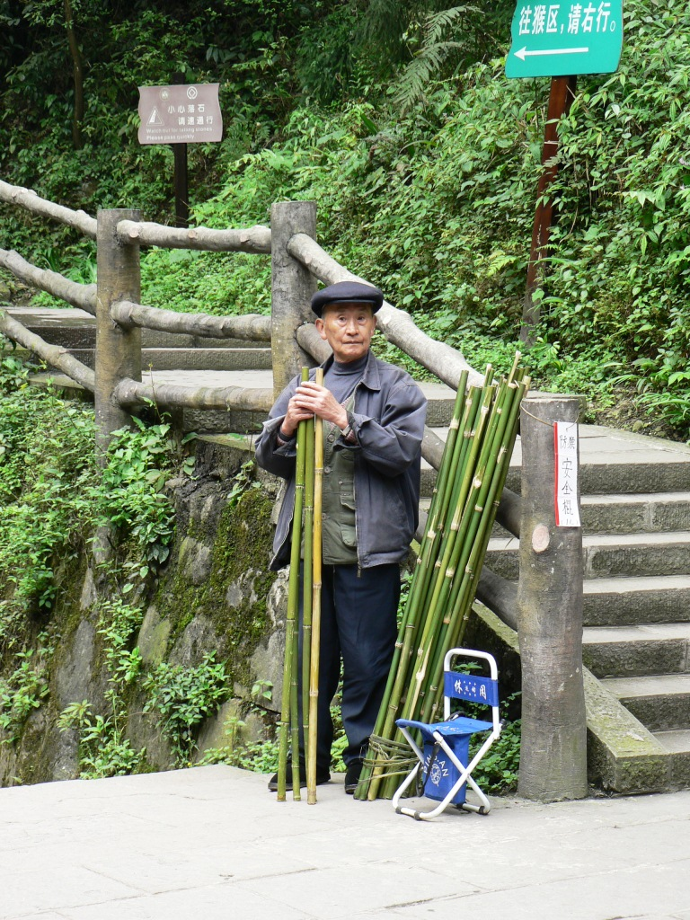 Walking sticks for sale Mt Emei trail