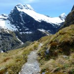 Trail with Jervois Glacier in view