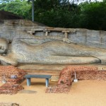 Stone reclining Buddha Polonnaruwa