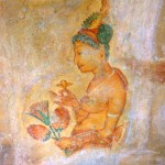Thousand year old frescoes Sigirya