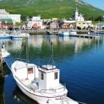 harbour scene Husavik