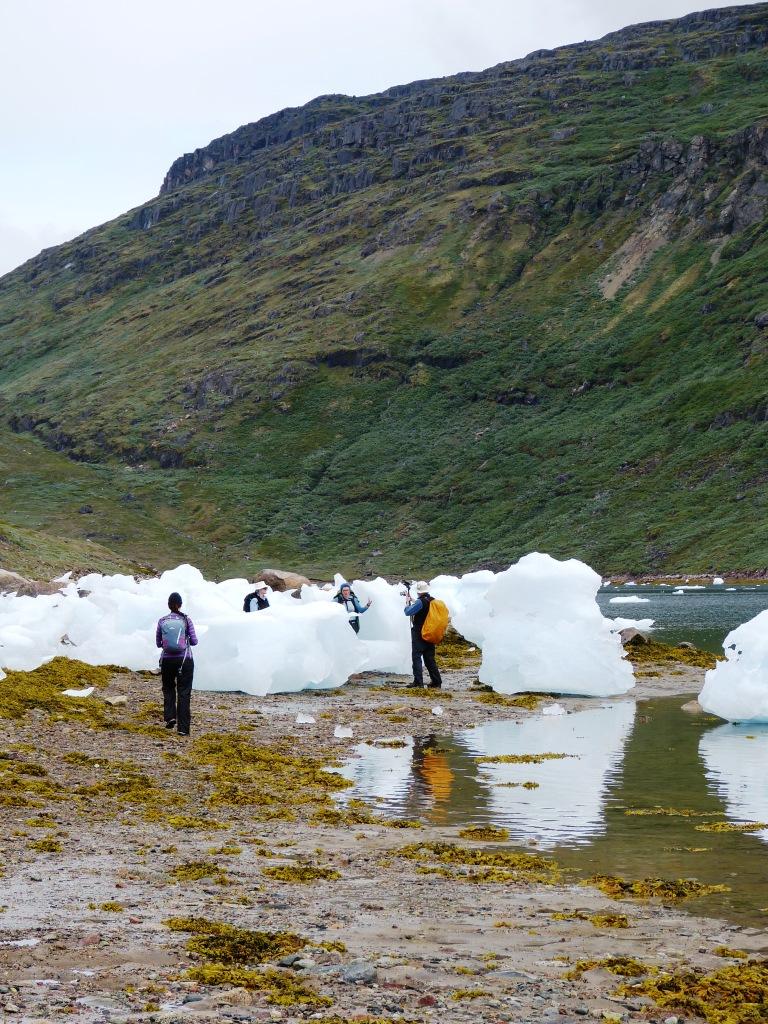 icebergs on beach Nunataaq
