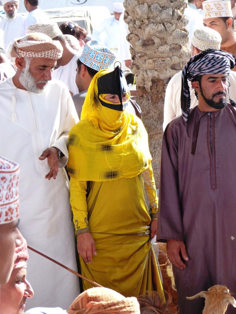 Bedouin buyers goat market-