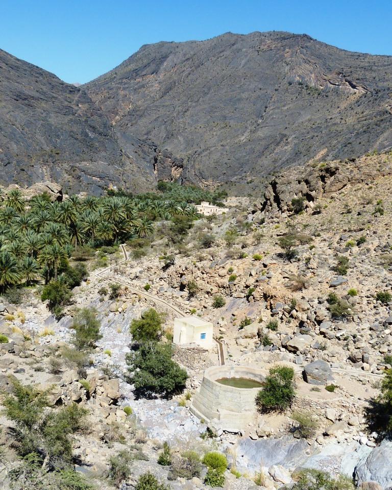 Falaj irrigation channels-