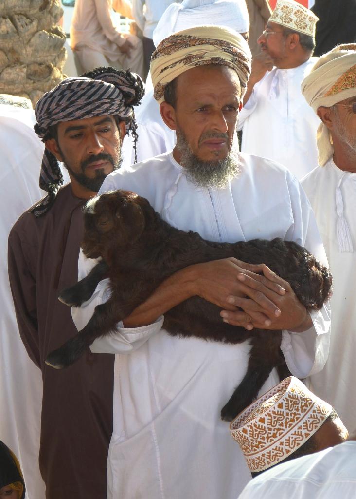 Nizwa goat market-