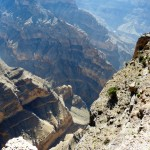 Wadi Ghul grand canyon 1900m drop-
