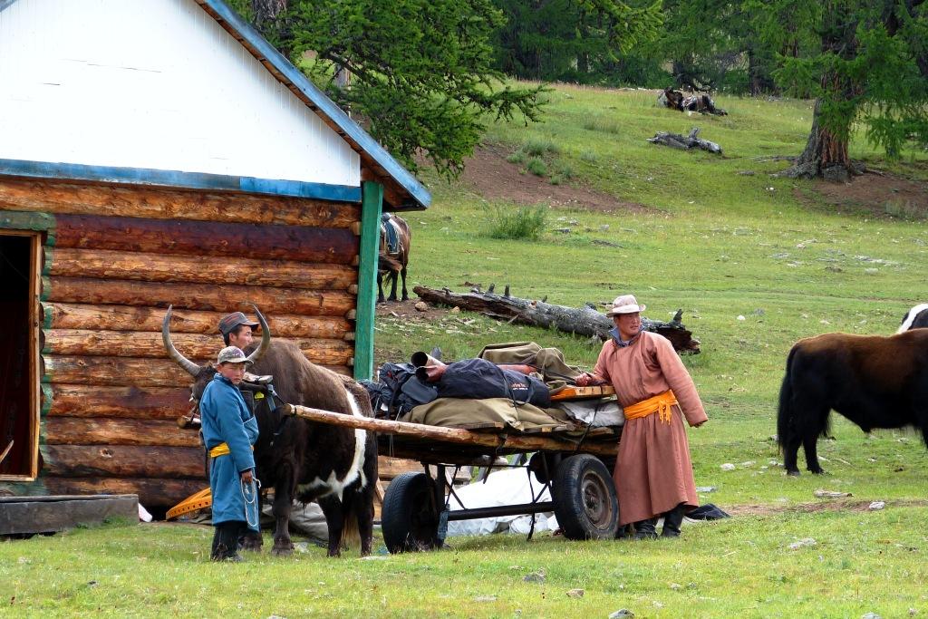 Family Car Northern Mongolia