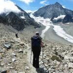 Dixence glacier and moraine