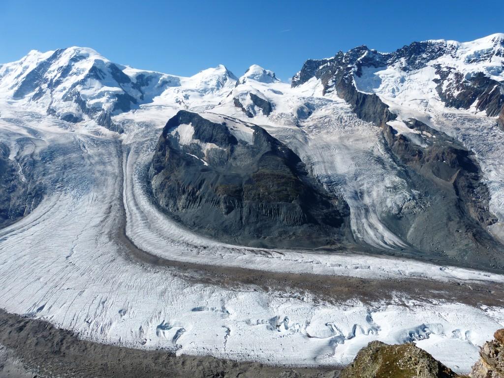 Gornergrat glacier above Zermatt
