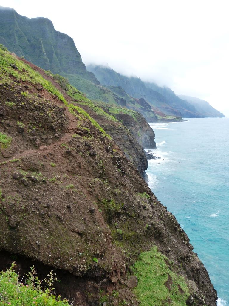 Trail above cliffs