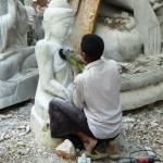 Sculpting Buddhas Mandalay