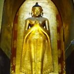 Gilded teak Buddha Bagan