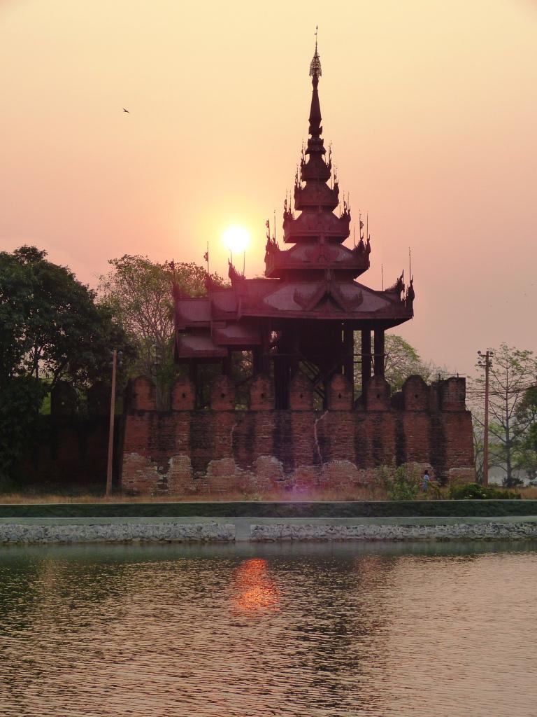 Sunrise Mandalay fortress
