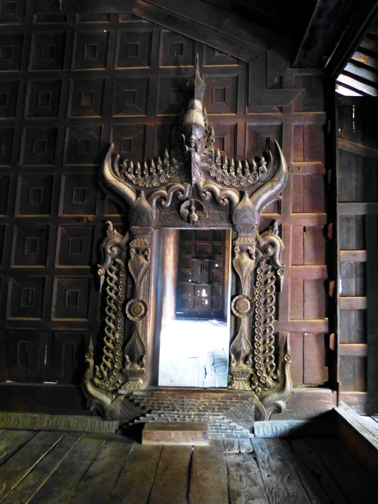 Teak temple doors Inwa
