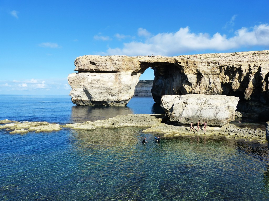 Gozo Island cliffs