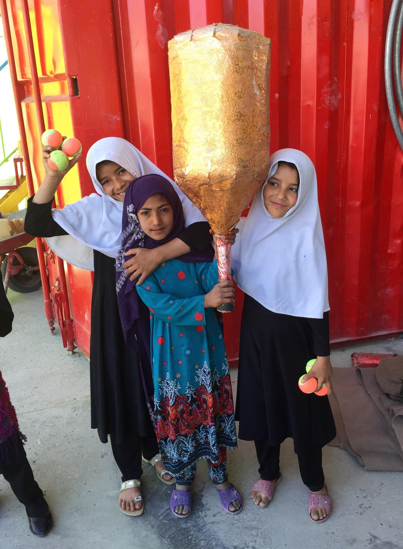 Refugee girls Kabul