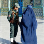 Burqa and police