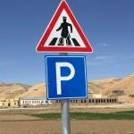 Pedestrian crossing Afghanistan