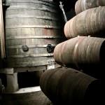 Port wine barrels and casks