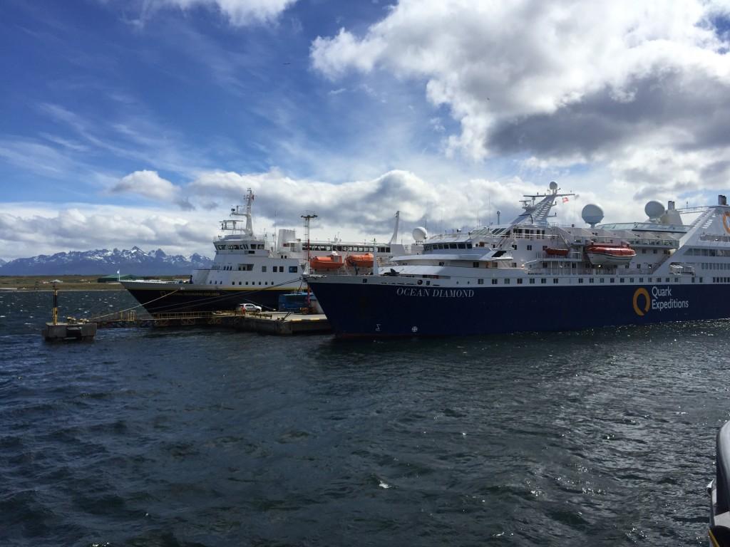 Ships leaving Ushuaia