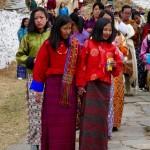 Women walking Paro