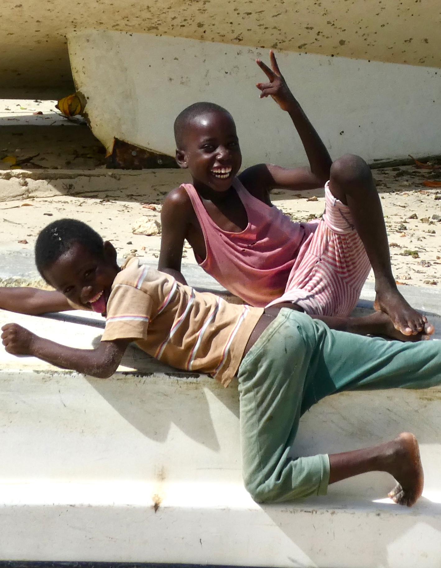Boys laughing Ibo Island
