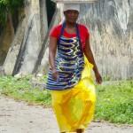 Woman walking Ibo Island