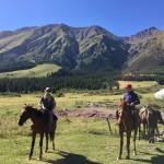 On horseback Kyrgyzstan